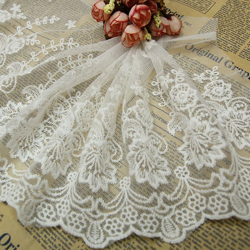 Multipurpose Clothes Lacework Trims Sew On Embroidery Lace Trimming Tulle Fabric   EBay