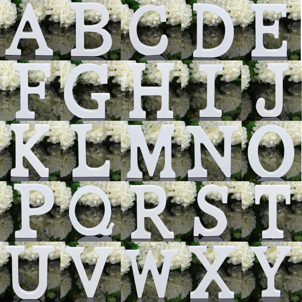 26 Large Wooden Letters Alphabet Wall Hanging Wedding ...