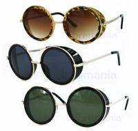 Trendy Round Side Visor Oversized Circle Lens Womens Fashion Retro Sunglasses BN