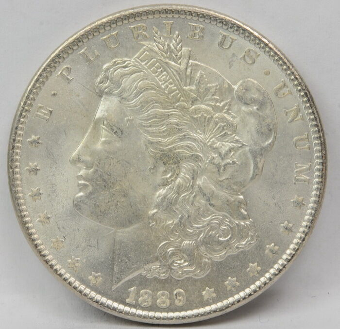 1889 United States Morgan Silver Dollar Coins 1 One