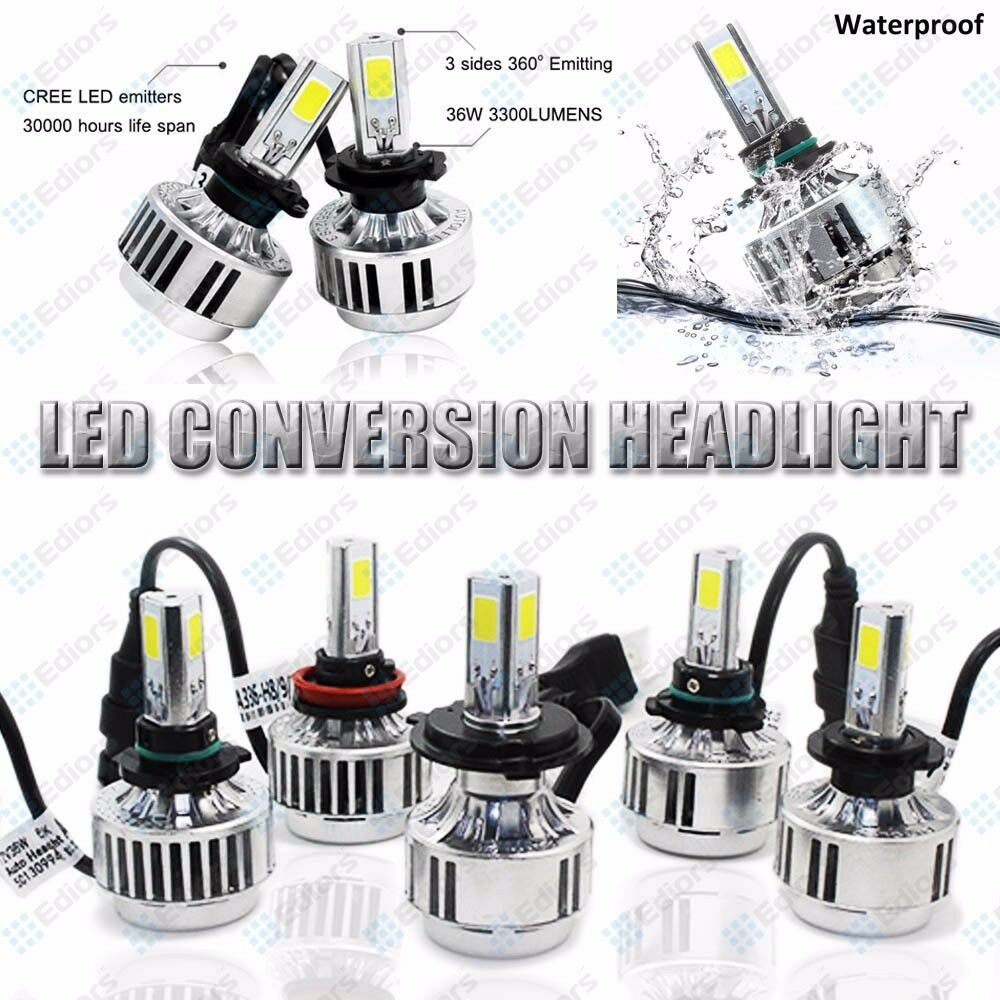 Ediors Fluxbeam Led Headlight Bulbs 9006 9007 H1 H3 H4 H7