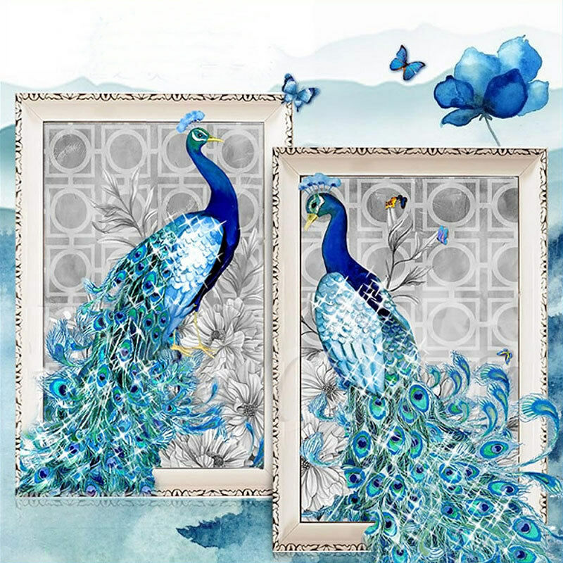 5d diamond embroidery painting diy peacock mosaic stitch for Mosaic home decor