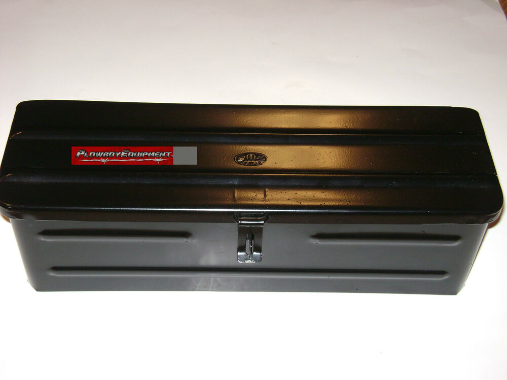 Tool Box For Tractor : Steel black tractor tool box a bl for allis case ih