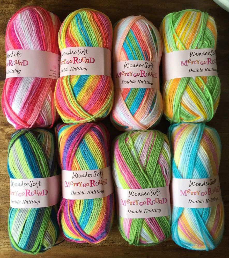 Stylecraft Wondersoft Merry Go Round DK Knitting Wool - Selfstriping ...