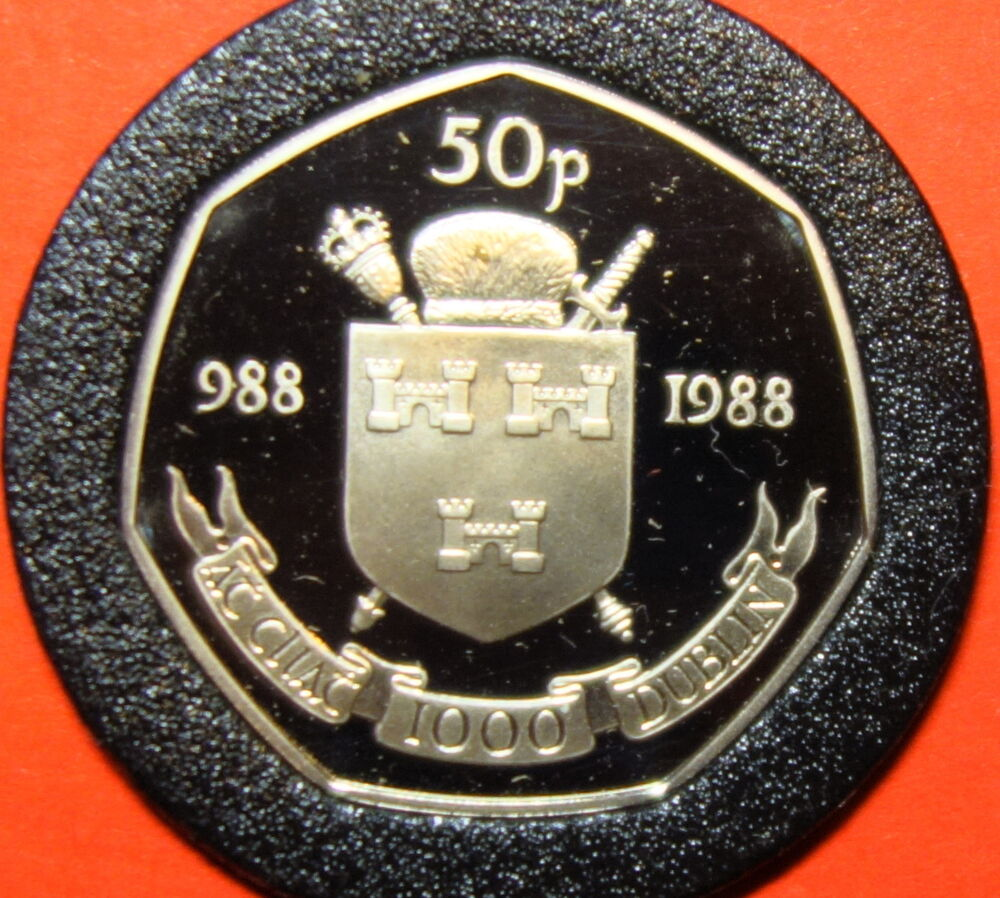 Ireland Dublin Fifty Pence Proof Coin 1988 With Cert Ebay