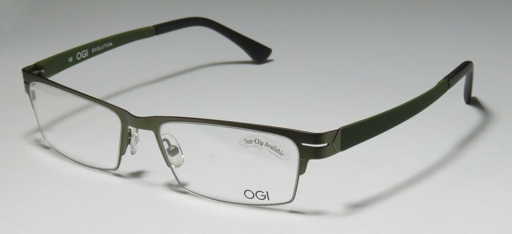Eyeglasses Frame Measurements : NEW OGI 4009 STAINLESS STEEL HIGH-END MODERN ADULT SIZE ...