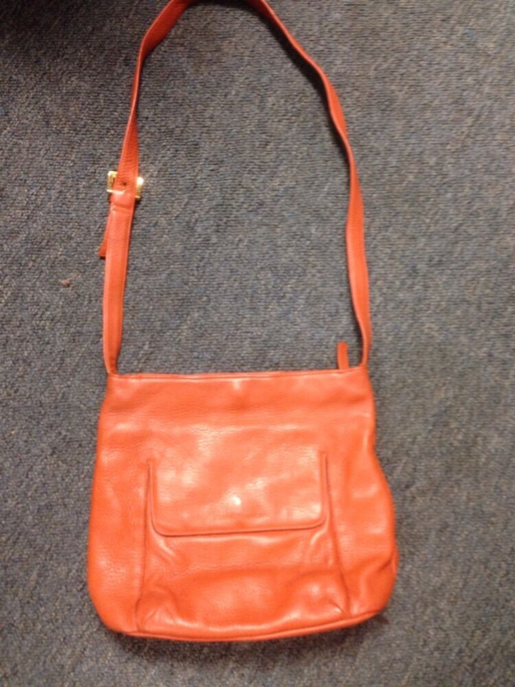 Stone Mountain Orange Leather Purse Handbag