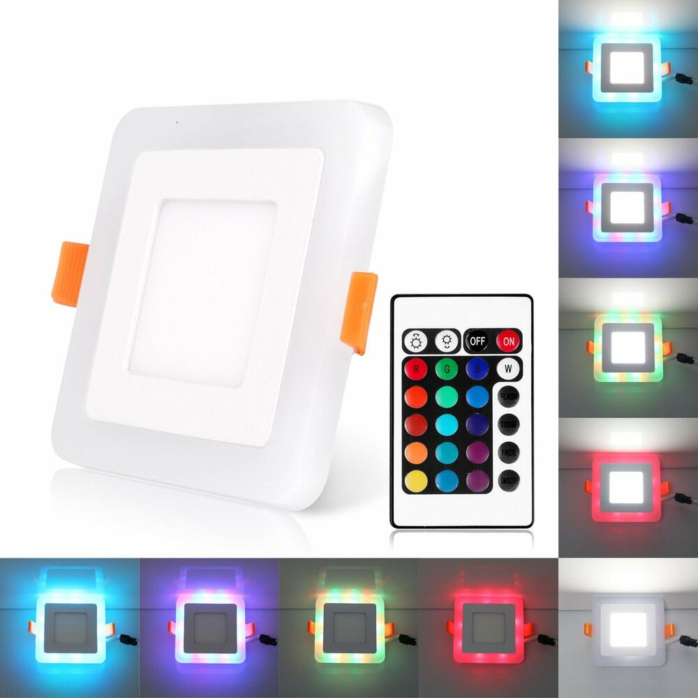 3 Mode RGB Dual Color LED Light LED Ceiling Recessed Panel