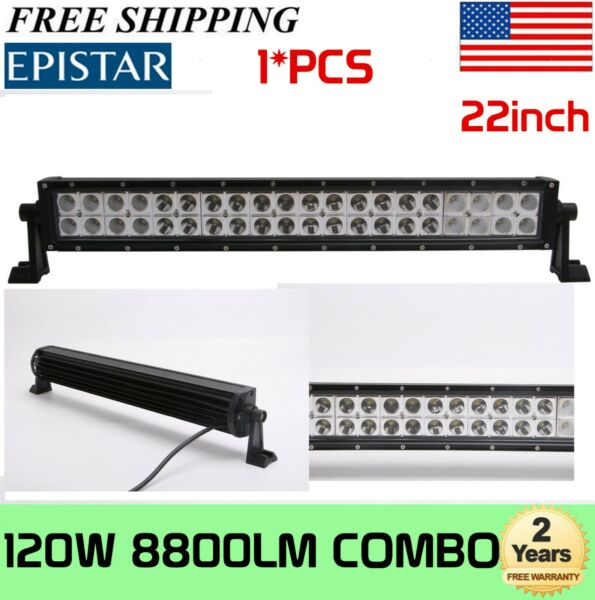 22inch 120W COMBO LED Light Bar Off-road Driving Lamp SUV Boat 4WD ATV Truck 20