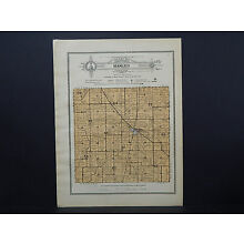 Illinois, Bureau County Map, 1916 Township of Manlius W16#92