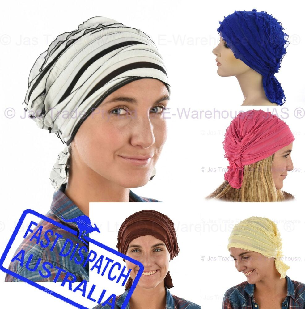chemo hair loss headcover fitted scarf wrap volume