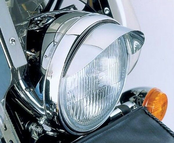 7 Quot Chrome Headlight Visor For Harley Davidson Ebay