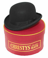 Christys Fashion Wool Felt Bowler Hat In Black With Christys Hat Box