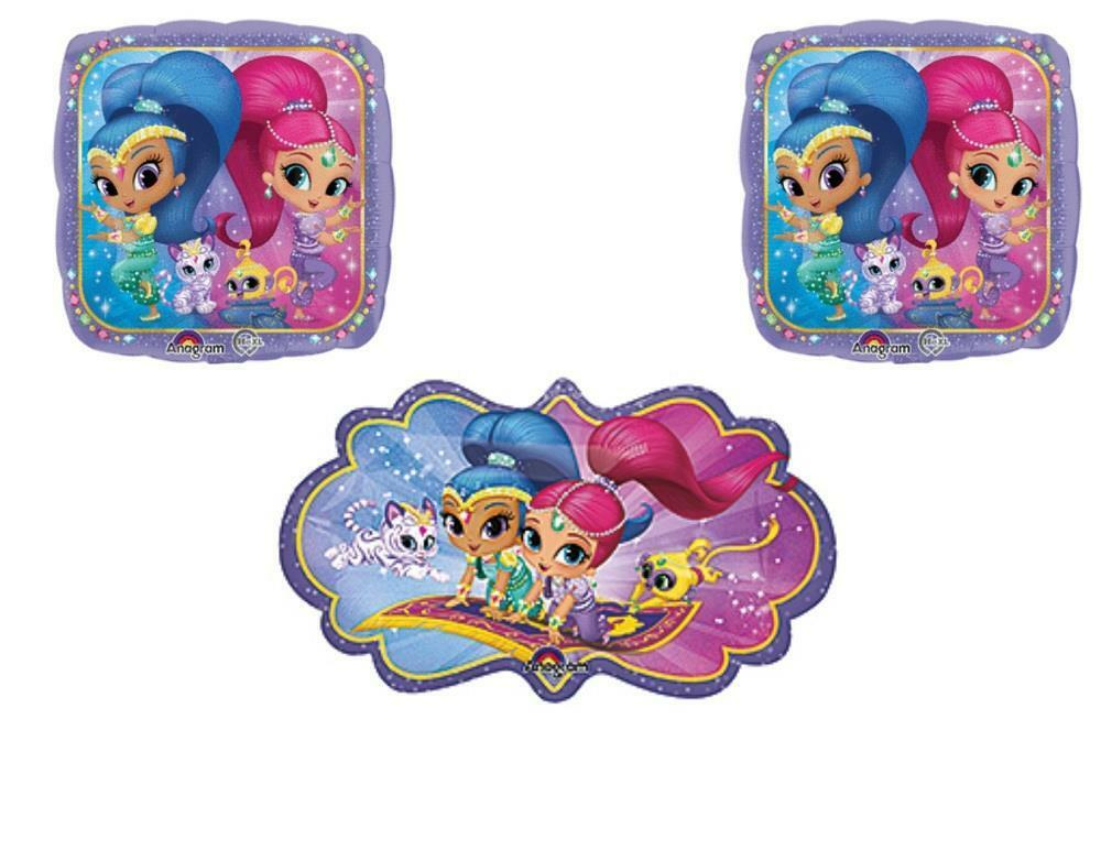 3 pc shimmer and shine happy birthday party balloons for Balloon decoration equipment