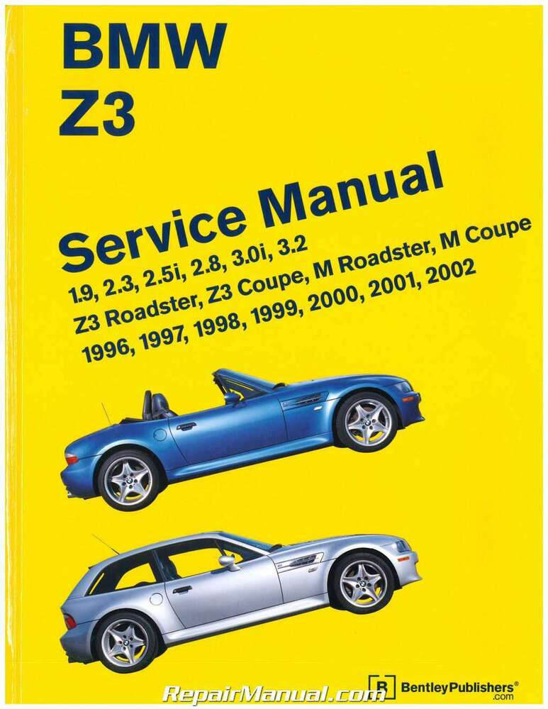 Bmw Z3 Roadster Printed Service Manual 1996 2002 Bz02