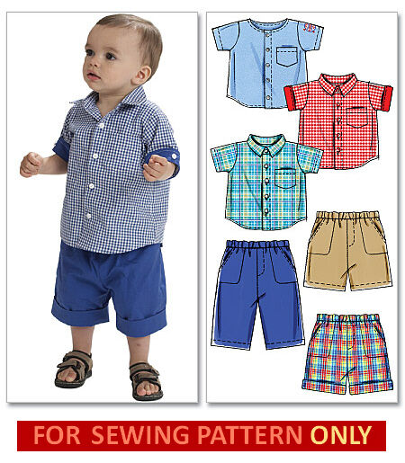 Sewing Pattern Make Shirt Shorts Pants Baby Toddler Boy