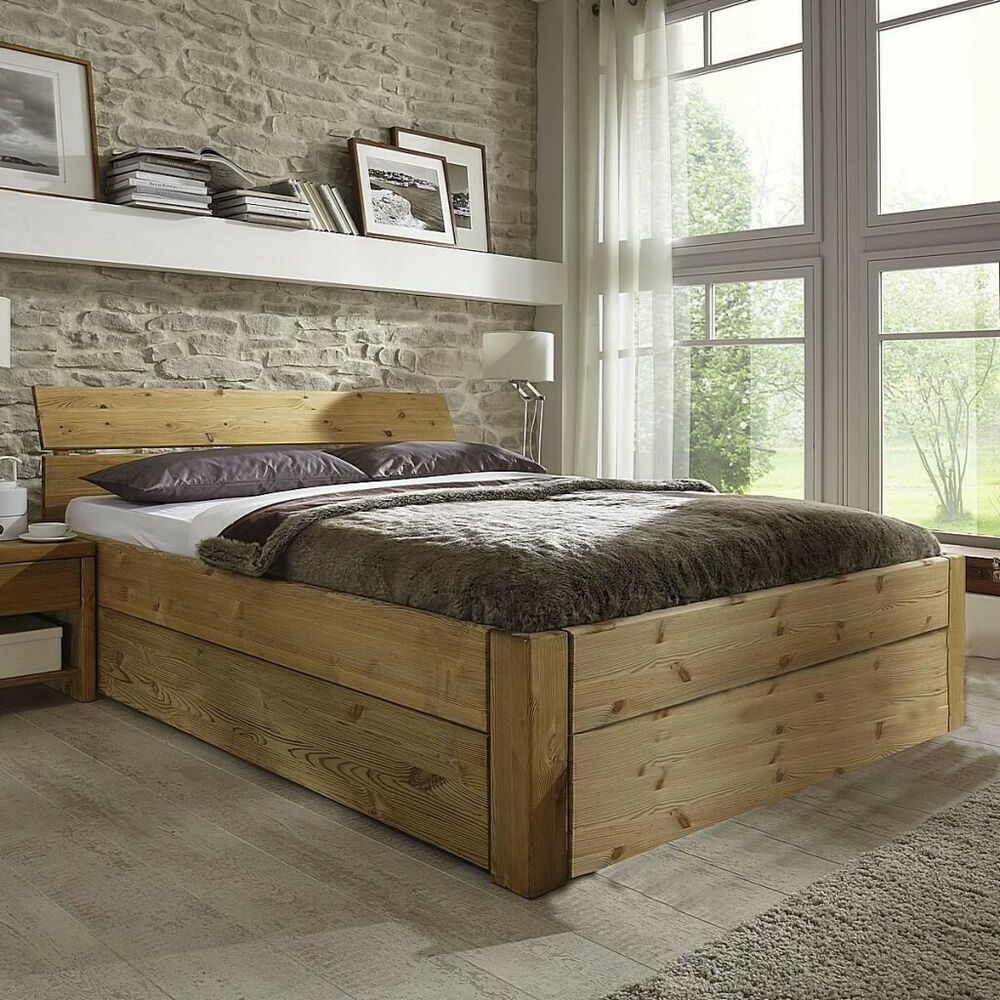 jugendbett schubladenbett 120x200 h he 45cm bett holz kiefer massiv gelaugt lt ebay. Black Bedroom Furniture Sets. Home Design Ideas