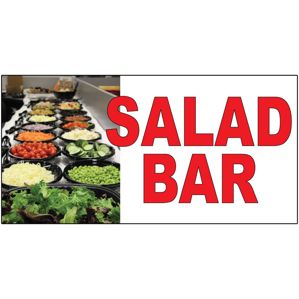 salad bar red food bar restaurant food truck decal sticker