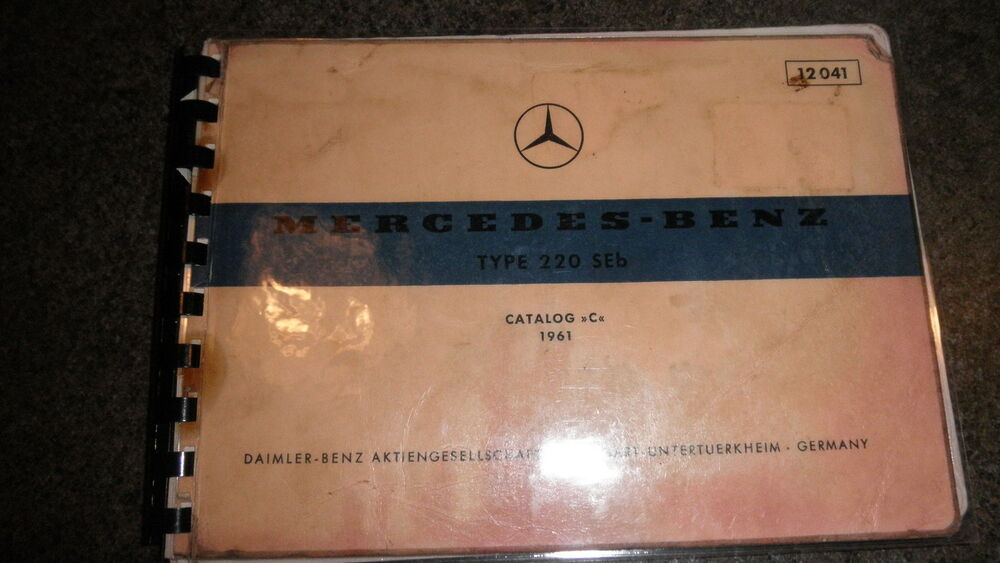 Genuine mercedes benz 12041 61 type 220seb w111 for Mercedes benz oem parts online