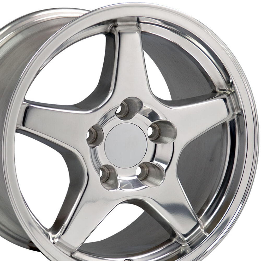 17x9 5 Polished C4 Corvette Zr1 Style Wheels Set Of 4 Rims