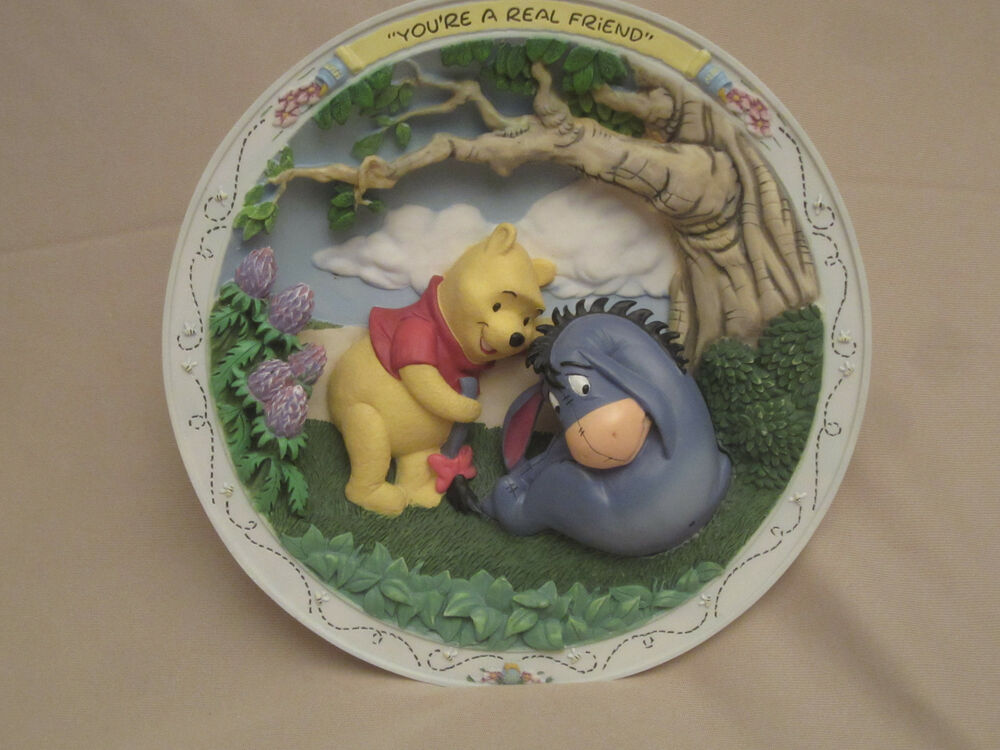 Winnie The Pooh And Friends 3 Collector Plate You Re A Real Friend 3 D Ebay