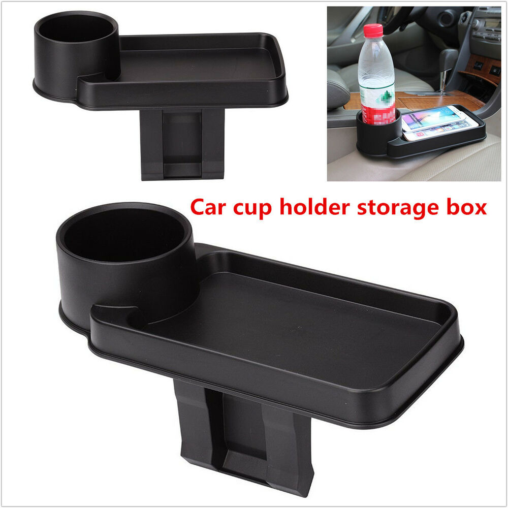 Black Car Interior Snack Tray Food Drink Bottle Rack Cup