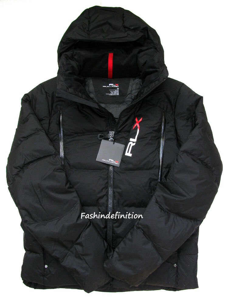 New Polo Ralph Lauren RLX Men Black Quilted Down Jacket
