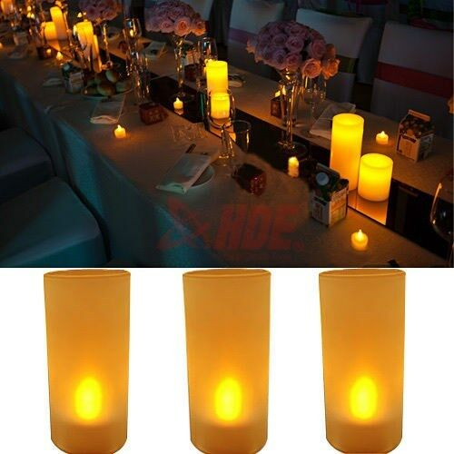 Flickering LED Flameless Fake Candle Wedding Party Home ...