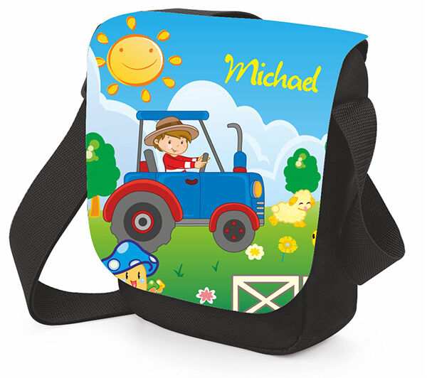 schultertasche f r kinder brotdose umh ngetasche kindergartentasche traktor ebay. Black Bedroom Furniture Sets. Home Design Ideas
