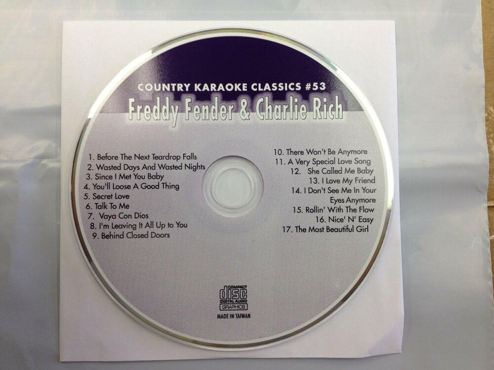 Freddy Fender Charlie Rich Country Karaoke Classics Cdg 17 Songs New