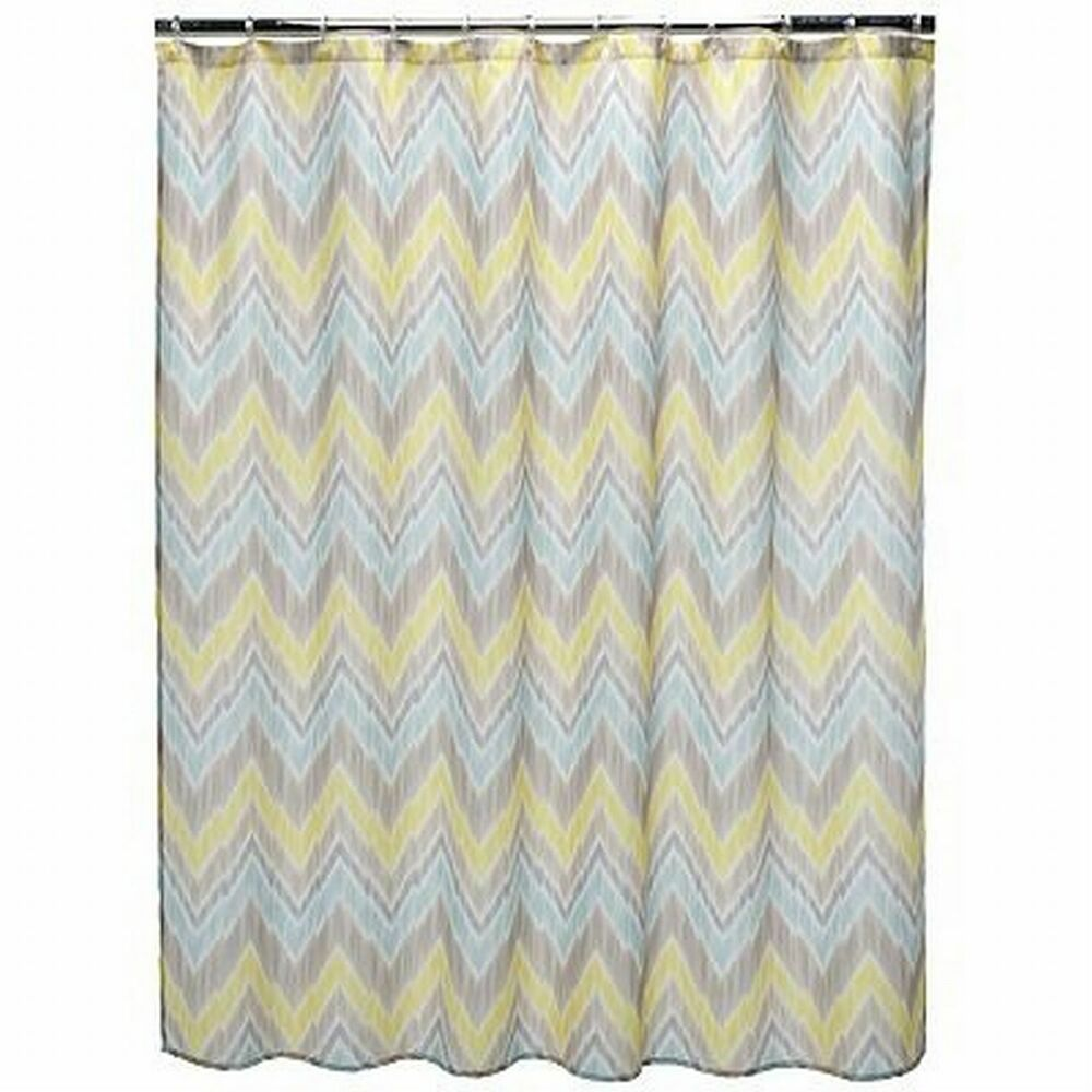 Blue And Yellow Bathroom Decor: Home Classics Tribal Finds Fabric Shower Curtain Yellow