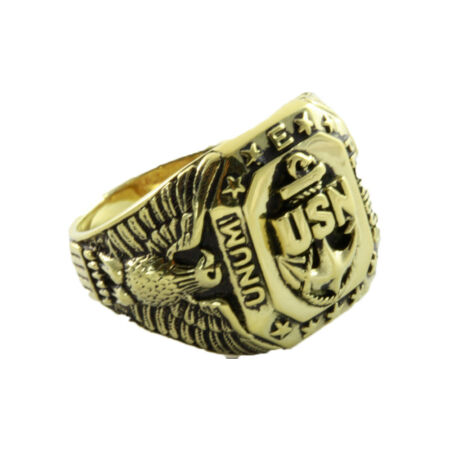 img-U.S.Navy United States US Silent Hunter Military Crest Ring Seal Ring /044