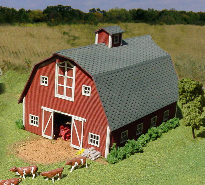 American model builders laserkit s scale country barn kit for Country barn builders