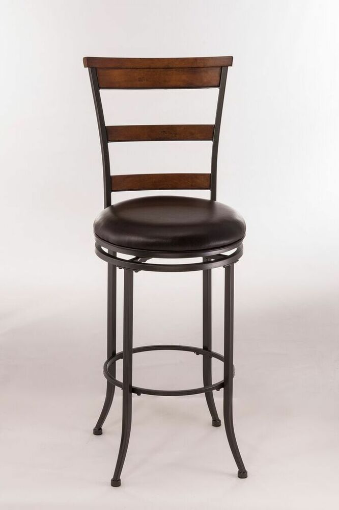 Hillsdale 4671 832 Cameron Swivel Ladder Back Bar Stool