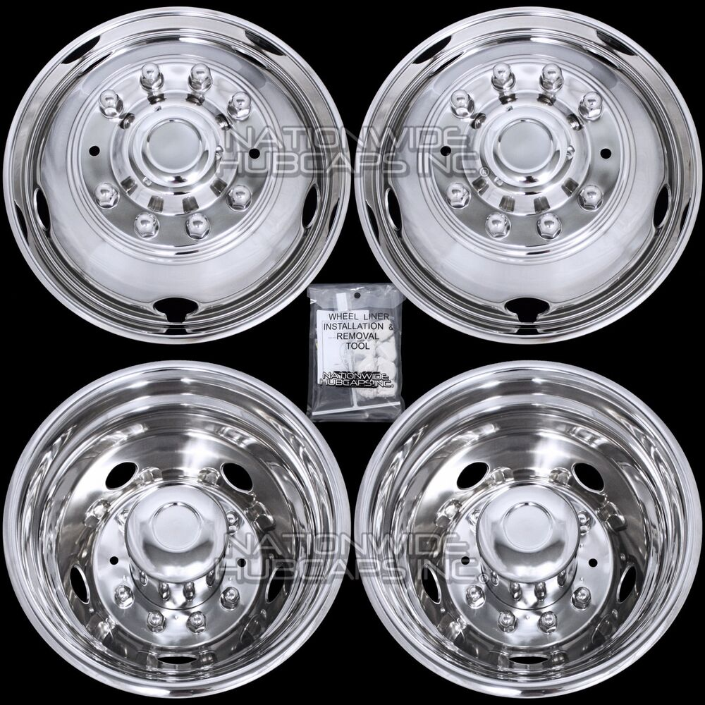 "05-18 FORD F450 F550 Truck 19.5"" 10 Lug Dual Wheel Simulators Rim Covers Liners 