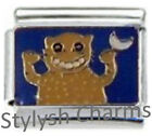 PARTY ANIMAL CHEEKY Enamel Italian Charm 9mm - 1 x NC106 Single Bracelet Link
