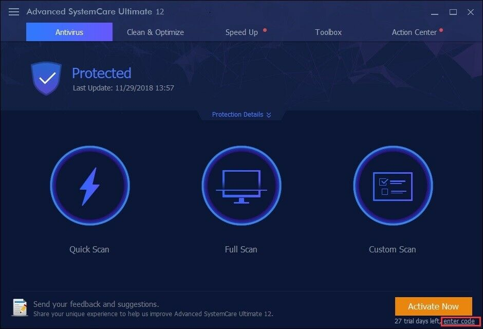 advanced systemcare ultimate 11 serial key 2019
