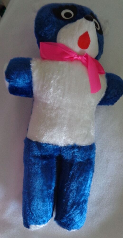Carnival Stuffed Toy Bear Blue White Vintage Superior Toy