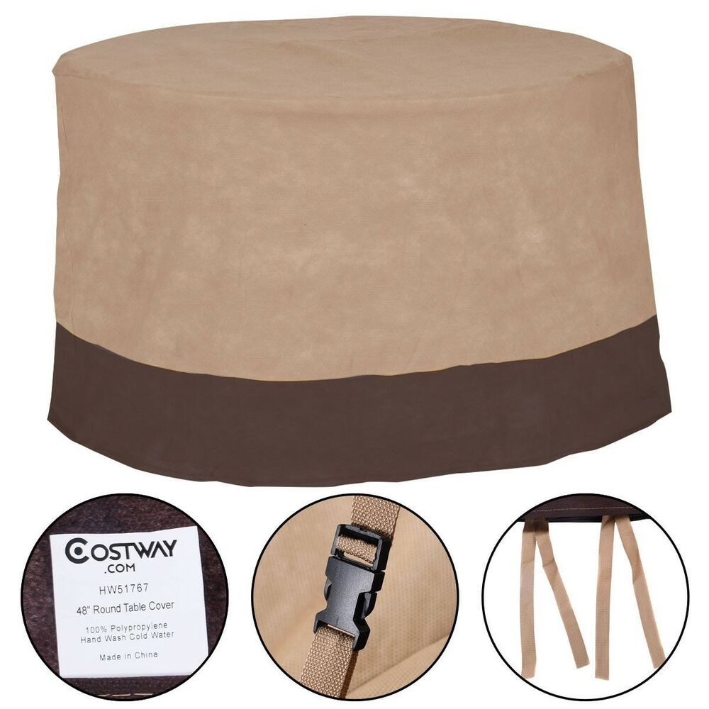 New Waterproof 48 Large Patio Round Table Cover Outdoor