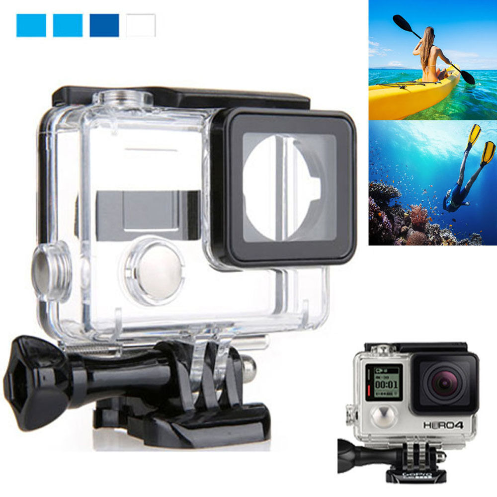 waterproof diving housing case for gopro hero3 hero 3 hero 4 plus accessory new ebay. Black Bedroom Furniture Sets. Home Design Ideas