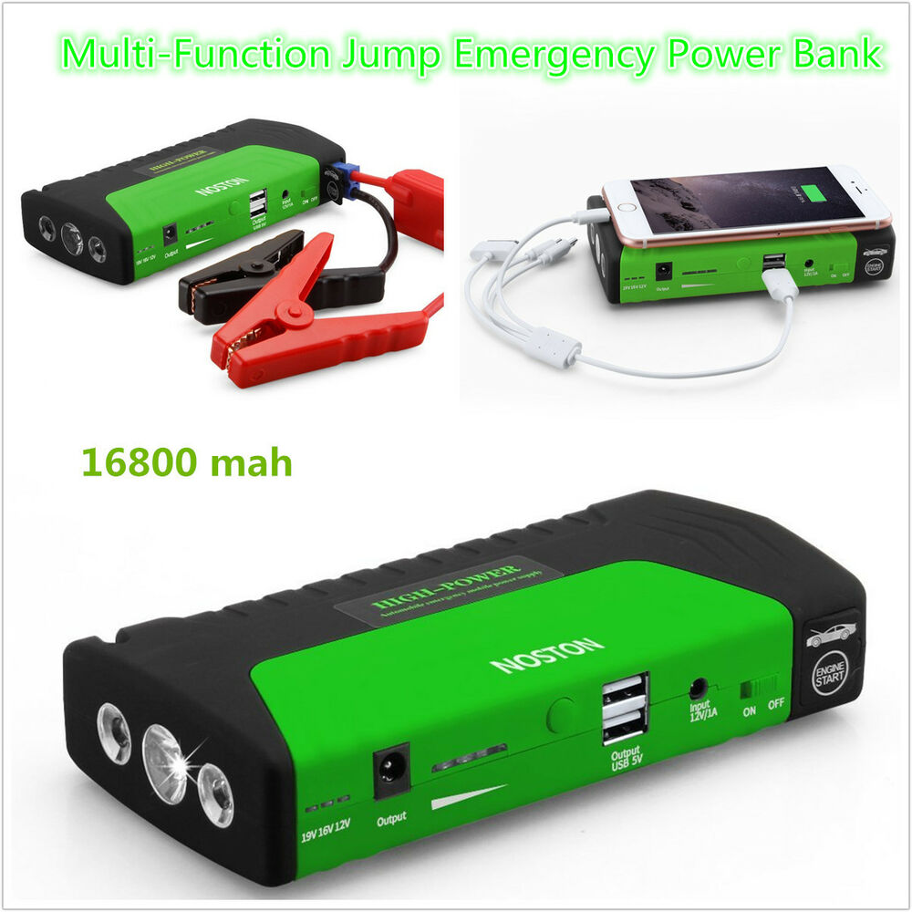12v car jump starter 16800mah portable battery power bank. Black Bedroom Furniture Sets. Home Design Ideas