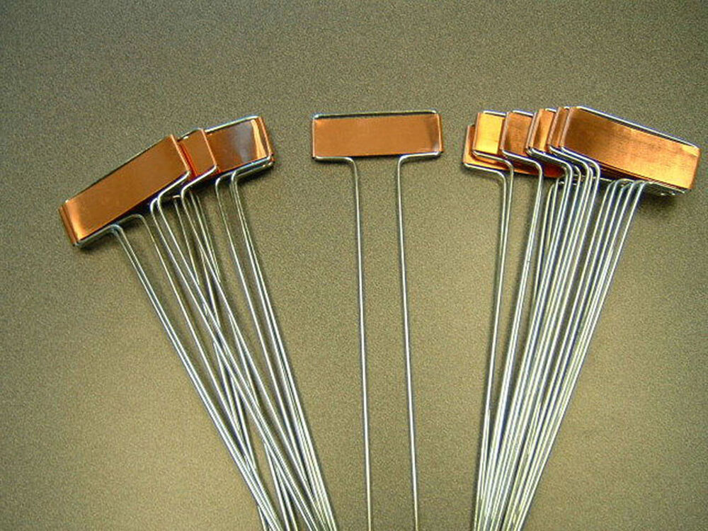10 COPPER PLANT MARKERS Garden Labels Seed Stakes free flower
