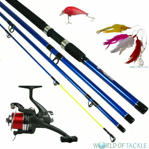 Travel sea pier fishing compact rod 9ft x treme and bm5000 for Compact fishing rod