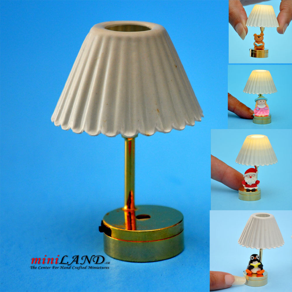 Dollhouse Miniatures Battery Lights: DIY TABLE LED LAMP LIGHT BATTERY 1:12 DOLLHOUSE MINIATURE