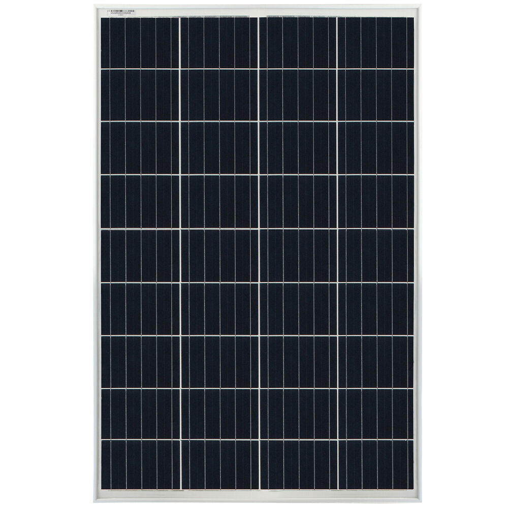 mighty max 100 watts 100w solar panel 12v 18v poly off. Black Bedroom Furniture Sets. Home Design Ideas