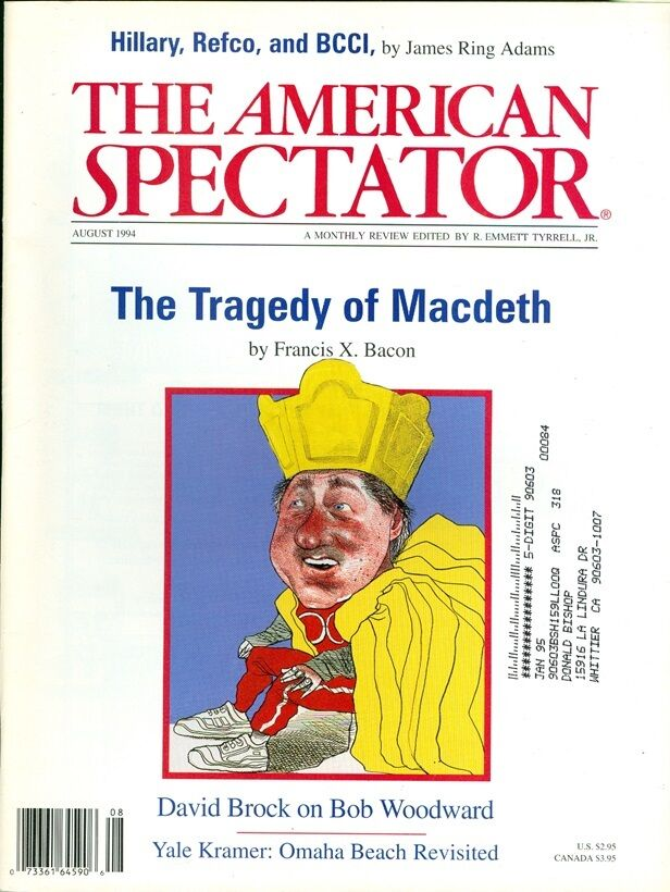 Kindle Vs Sony Reader: 1994 The American Spectator Magazine: Tragedy Of Macdeth
