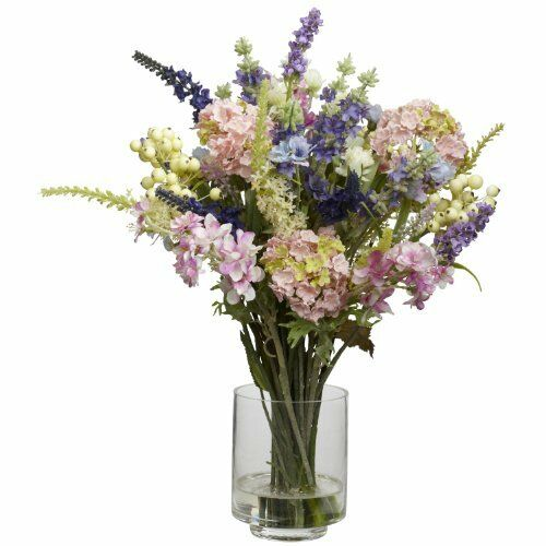 Nearly natural 4760 lavender and hydrangea silk flower arrangement nearly natural 4760 lavender and hydrangea silk flower arrangement mixed mightylinksfo