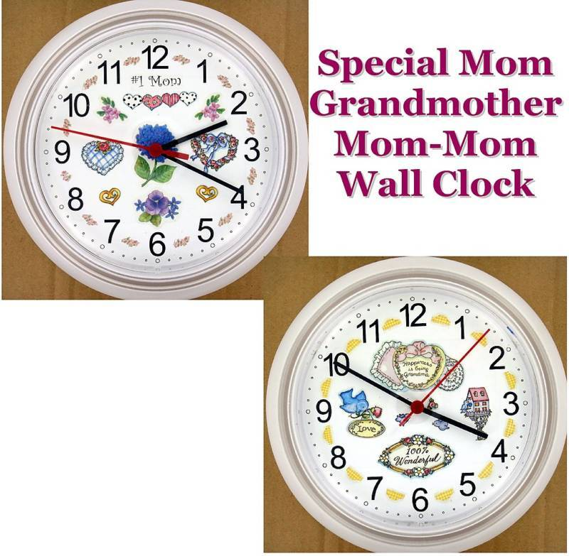 Special Mom Grandmother Wall Clock Grandma Mother Mom Mom Granny