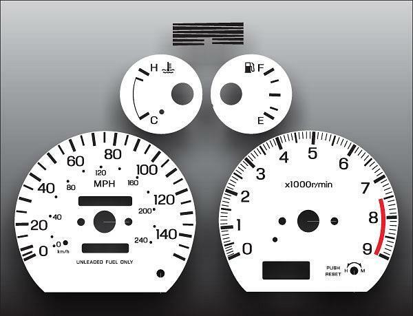 White Face Gauge Kit Fits 1993-1994 Nissan Sentra SE-R NX ...