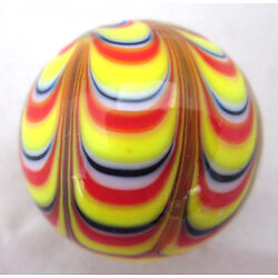 Kyпить 25mm RAZZAMATAZZ Handmade art glass stripe design Marbles ball Large 1